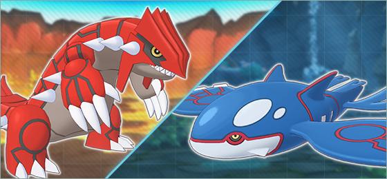 Groudon y Kyogre Pokémon Masters EX