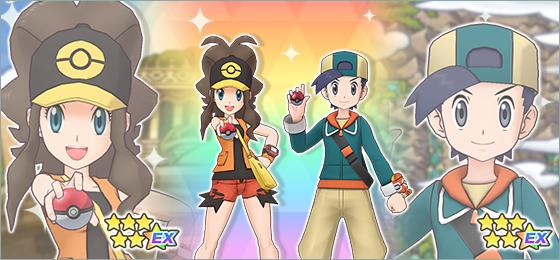 Liza y Tepig (5⭐), y Eco y Cindaquil (5⭐) Pokémon Masters EX
